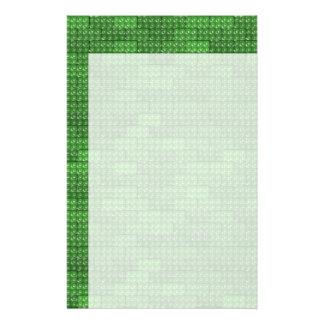 De Groene Bakstenen van de bouwer - Briefpapier Ontwerp