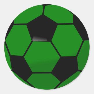 De groene Bal van het Voetbal Ronde Sticker