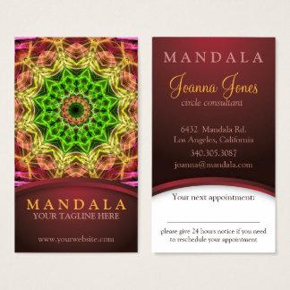 De groene benoeming van Mandala van de Bloem Visitekaartjes