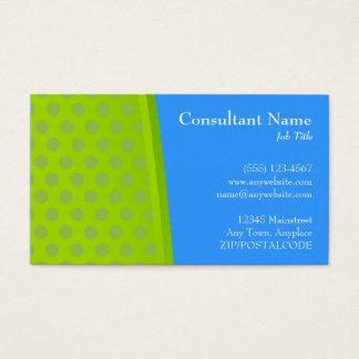 De groene & Blauwe Moderne Kaart van het Stip Visitekaartjes