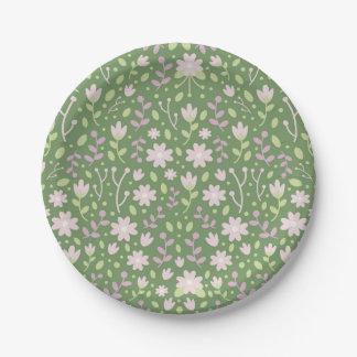 De groene Bloemrijke Gebieden van de Lente Papieren Bordje