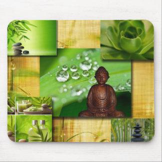 De groene Collage van de Sereniteit van Zen & van Muismat