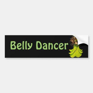 De groene Danser van de Buik Bumpersticker
