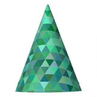 De groene driehoeken van de pastelkleur feesthoedjes