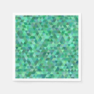 De groene driehoeken van de pastelkleur wegwerp servet