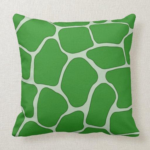 De groene druk van de giraf werpt kussen zazzle - Verkoop synthetisch gras ...
