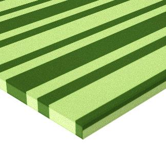 De groene druk van het de douanecanvas van Strepen Stretched Canvas Print
