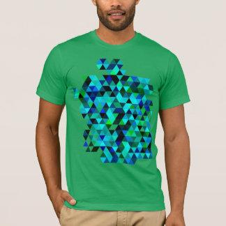 De groene en Blauwe T-shirt van het Patroon van de
