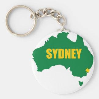 De Groene en Gouden Kaart van Sydney Sleutelhanger