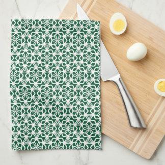 De groene en Witte Handdoek van de Keuken van het
