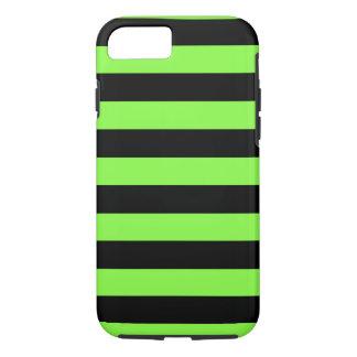 De Groene en Zwarte Horizontale Strepen van het iPhone 7 Hoesje