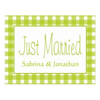 De groene enkel Gehuwde Controles van het Huwelijk Briefkaart