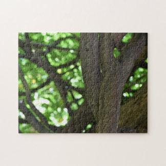 De groene Fotografie van de Natuur van de Boom van Legpuzzel