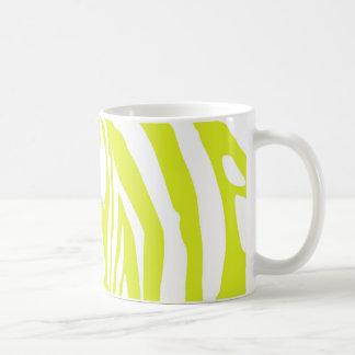 De groene gestreepte druk van het limoen koffiemok