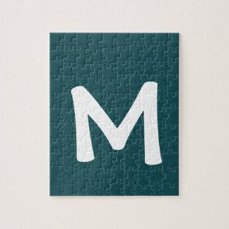De groene Gift van de Vakantie van het Monogram M Puzzel