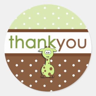 De groene Giraf dankt u Stickers