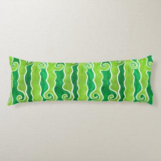 De groene Golven van het Limoen Lichaamskussen