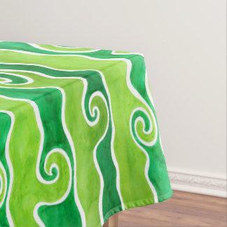 De groene Golven van het Limoen Tafelkleed