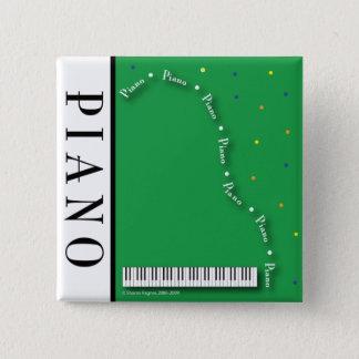 De groene Grote Knoop van de Piano Vierkante Button 5,1 Cm