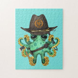 De groene Jager van de Zombie van de Octopus van Puzzel