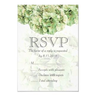 De groene Kaart van het Huwelijk RSVP van de