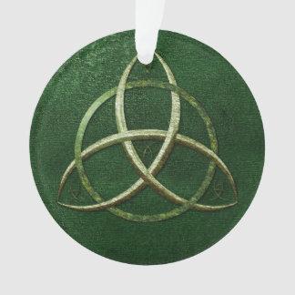 De groene Keltische Knoop van de Drievuldigheid