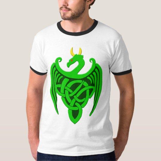 De groene Keltische T-shirt van de Draak