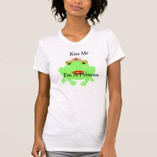 De groene Kikker kust me ik ben een Prinses met T Shirt