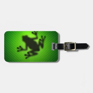 De groene Kikker van de Boom Kofferlabel