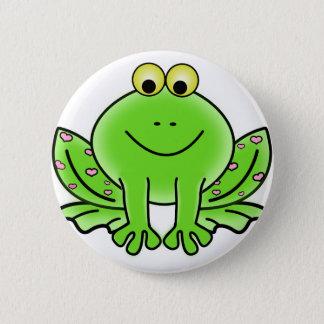 De Groene Kikker van het regenwoud Ronde Button 5,7 Cm