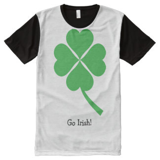 De groene Klaver van Vier Blad Volledig Bedrukte T-shirts