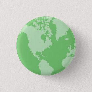De groene Knoop van de Aarde Ronde Button 3,2 Cm