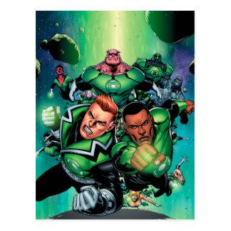 De groene Korpsen van de Lantaarn Briefkaart