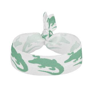 De groene Krokodille Leuke Dieren van de Krokodil Haarelastiekje