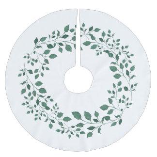 De groene kroon van de bladerenwaterverf kerstboom rok