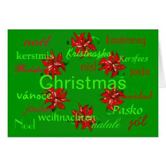 """""""De Groene Kroon van Kerstmis rond de Wereld"""" Kaar Wenskaart"""