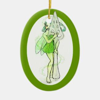 De groene Lepel van de Alsem van de Holding van de Keramisch Ovaal Ornament