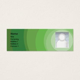 De groene Magere Schaduwen van de Cirkel - Mini Visitekaartjes