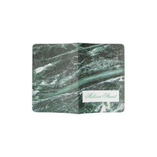 De groene Marmeren Douane van de Textuur van de Paspoort Houder