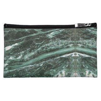 De groene Marmeren Zak van de Textuur van de Steen Make-up Tasje