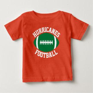 De groene Naam/de Tekst & het Aantal van het Team Baby T Shirts