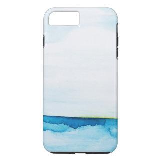 De groene OceaanWaterverf van de Flits iPhone 7 Plus Hoesje