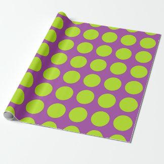 De Groene Paarse Stippen van het limoen Inpakpapier