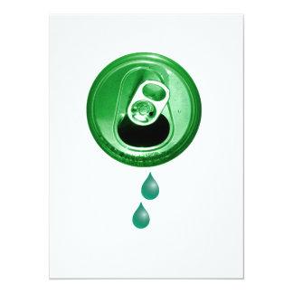 De groene Partij van het Bier 13,9x19,1 Uitnodiging Kaart