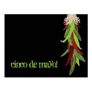 de groene peper van Chili Briefkaart
