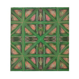 De groene Plaid van de Perzik Notitieblok