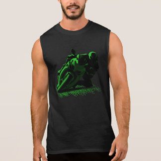 De groene Rennende fietser van de Motorfiets T Shirt