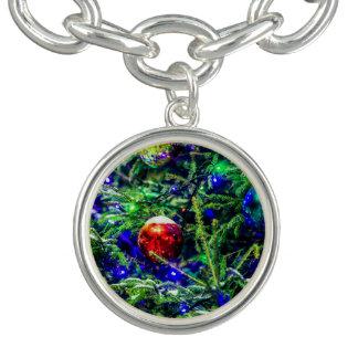 De groene Rode Bal van de Kerstboom Armbanden