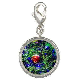 De groene Rode Bal van de Kerstboom Foto Charms