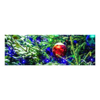 De groene Rode Bal van de Kerstboom Foto Kunst